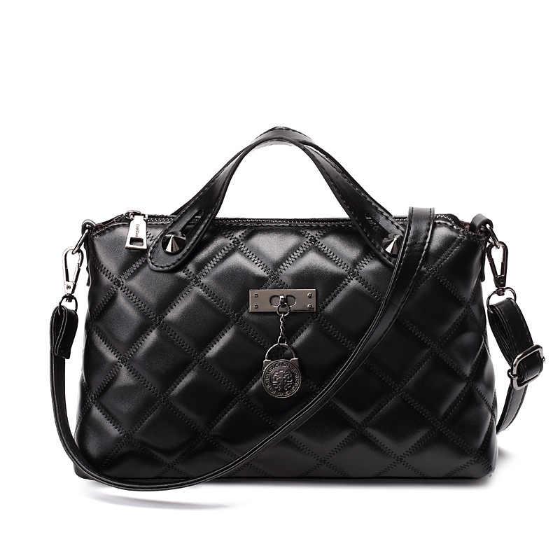 Yeni Lüks Çanta Kadın Çanta 2019 Ünlü Marka Tasarımcı Moda Ekose omuzdan askili çanta Kadın Crossbody Çanta Yüksek Kapasiteli Tote Çanta