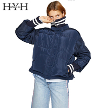 HYH HAOYIHUI Simple Casual Solid Color Base Coat Loose Fluffy Side Slit Ribbed Collar Cotton Suit