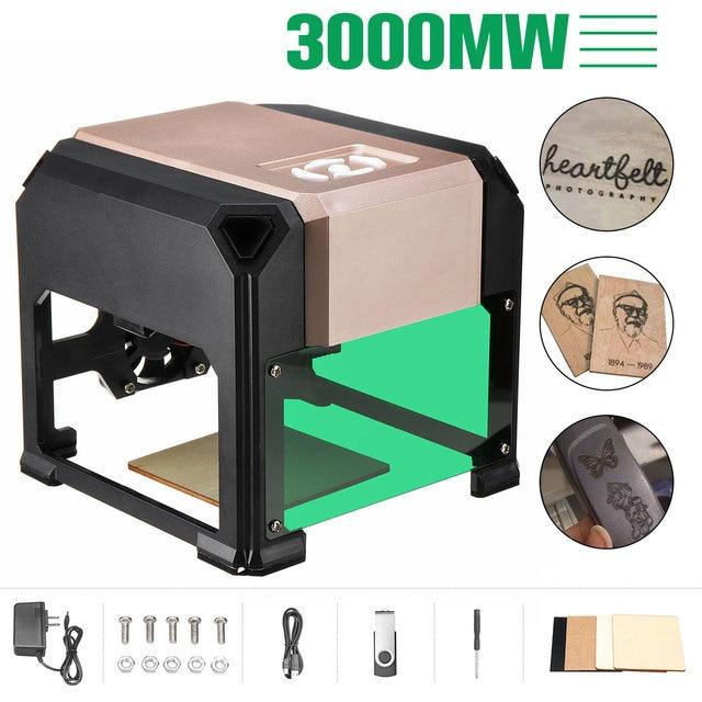 2000/3000 МВт USB Настольный лазерный гравер машина DIY Логотип Марка принтер резак CNC лазерная резьба машина 80x80 мм Диапазон гравировки
