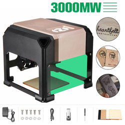 2000/3000mW USB Desktop Laser Stecher Maschine DIY Logo Mark Drucker Cutter CNC Laser Carving Maschine 80x 80mm Gravur Palette