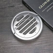 Новая нержавеющая сталь стена вентиляционное отверстие воздуховод вентиляция выпускная решетка для вентиляции крышка выпускные отверстия круглая выпускная решетка для вентиляции с фланцем 1 шт