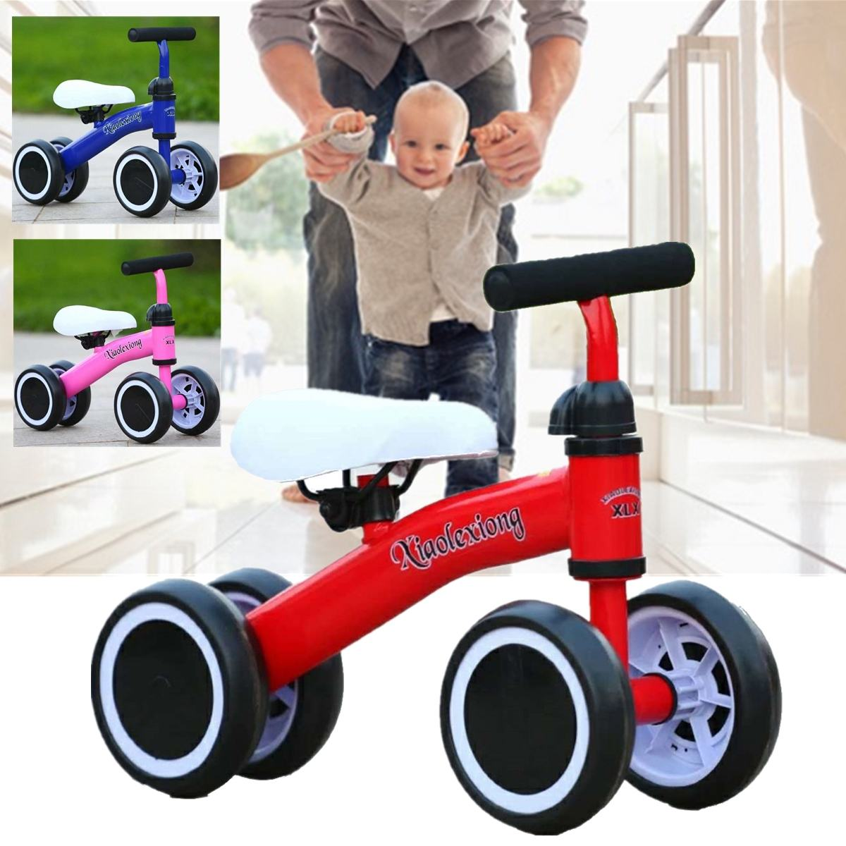 New Children Three Wheel Balance Bike Scooter Baby Walker Portable Bike No Foot Pedal Bicycle Baby Walker Tricycle Riding Toys In Short Supply Activity & Gear Mother & Kids