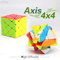 Fanxin Axis 4x4 Cube Stickerless Magic Cube Higth Diffuclty Professional Specail Creative Puzzle Educational Toys for Children