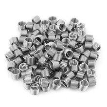 100 шт., вставок из нержавеющей стали M6x1.0x1.5D, спиральные винты, спиральные втулки, резьба Helicoil, ремонтная вставка, набор в ассортименте