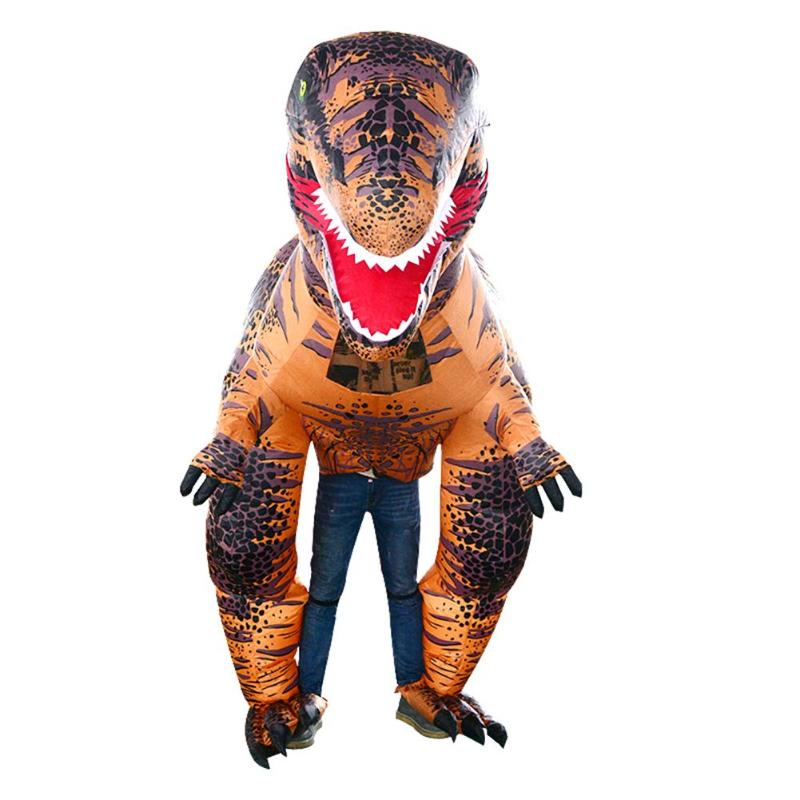 Inflatable T Rex Costumes Dinosaur Dress Adult Kids Men Women Blowup Animal Cosplay Outfits Clothes for