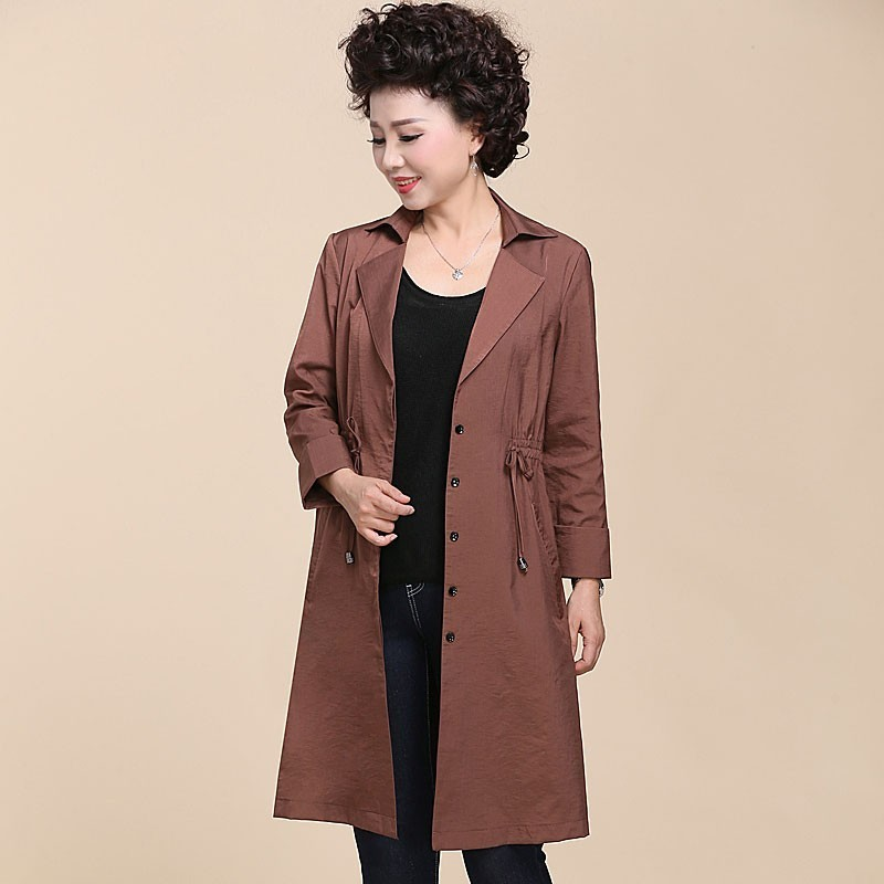 Women Single Breasted   Trench   Coat 2019 New Spring Autumn Ladies Elegant Long Sleeve Coats Outwear Plus Size 6XL
