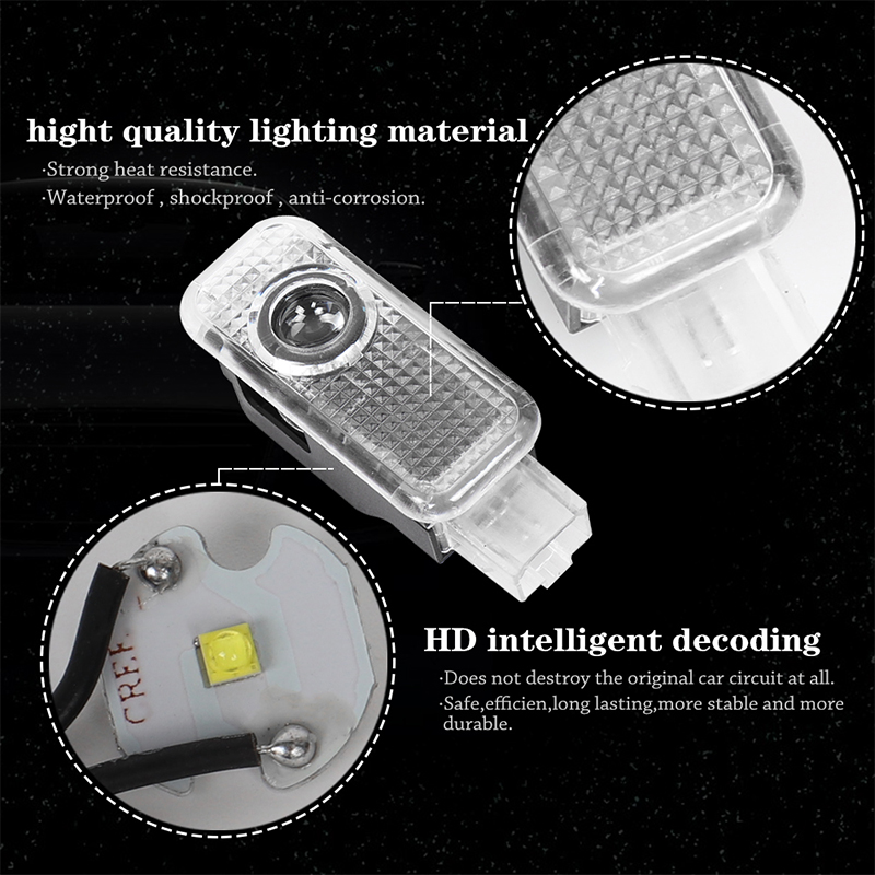 2X LED Car Door Welcome Light Ghost Shadow Lamp Logo Projector Lights For Audi A4 B6 B8 B5 B7 A6 C5 C6 C7 A5 A7 A3 8V V8 8P 8L in Signal Lamp from Automobiles Motorcycles