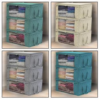 Нетканые сумки для хранения стеганых одеял, хлопковый Органайзер Домашний для хранения, портативный пылезащитный шкаф, Пылезащитная перен...
