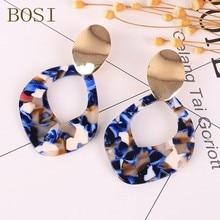 Acrylic Earrings Fashion For Women Boho Acetate Big Drop Dangle Earing Geometric Jewelry Multicolor