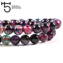 6 8 10mm Round Smooth Natural Stone Beads For Jewelry Making Women Diy Bracelet Pattern Agates Strand Wholesale S602