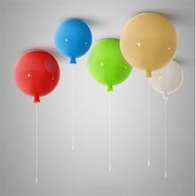 Nordic 6 colour Creative Balloon Acrylic Pendant Lights Fixtures Home Decor Bedroom Children Room E27 Energy-saving Lamp