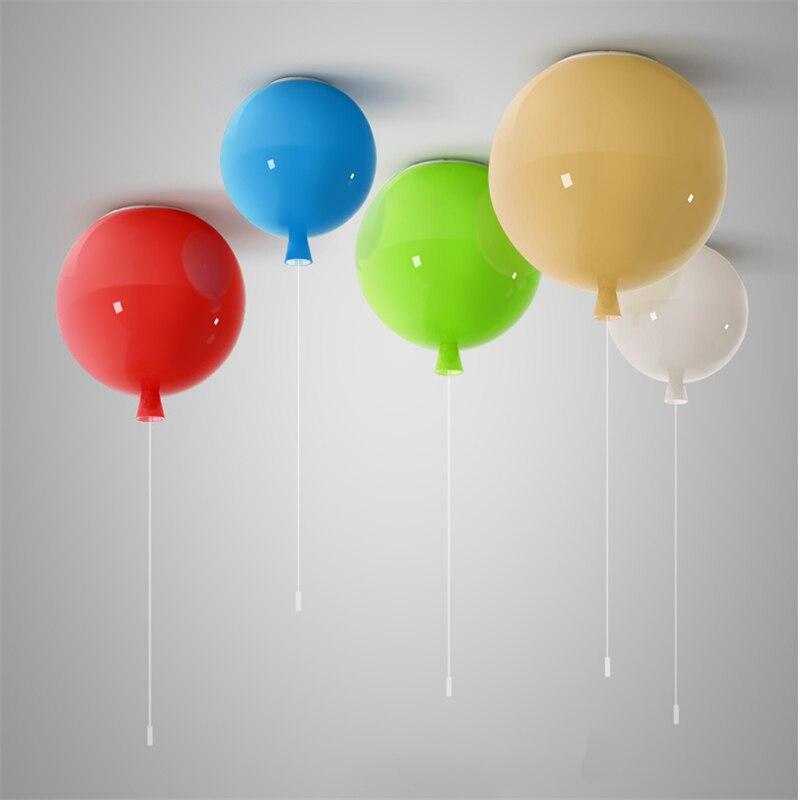 Nordique 6 couleur créative ballon acrylique pendentif lumières luminaires décor à la maison chambre enfants chambre E27 économie d'énergie suspension lampe