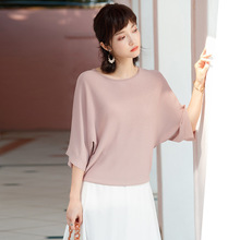 2019 Spring Summer New arrival Pullover o-neck Knitting Sweater Batwing Sleeve Temperament loose all-match knitting shirts F9901 цены онлайн