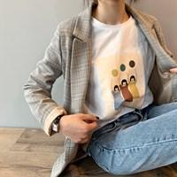 Spring Blazer Slim Korean Restore Plaid Blazer Notched Feminine Outwear Suit Loose Suit Harajuku Vintage Jacket