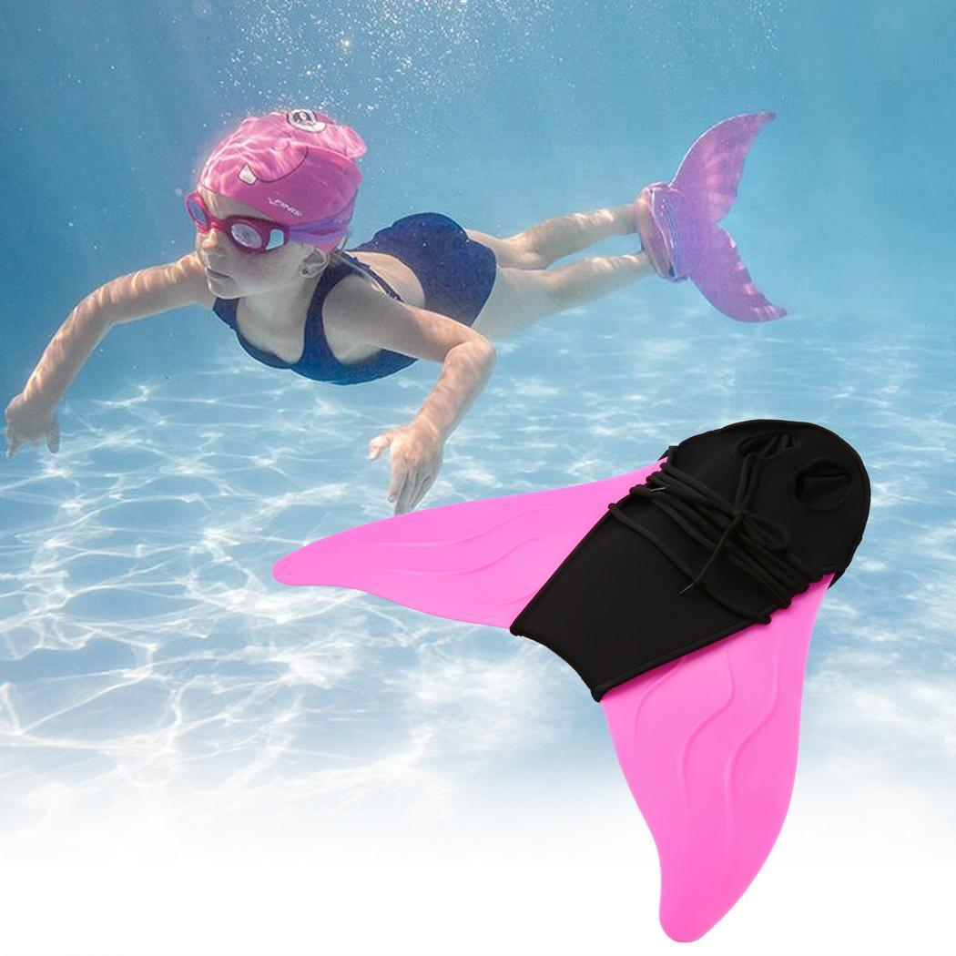 Kids Adult Swimming Fins Training Flipper Mermaid Swim Fin Swimming Foot Flipper Diving Feet Tail Monofin Children 2019