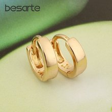 Милые мини серьги золотого цвета маленькие кольца для женщин