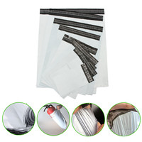 100pcs Poly Mailers Envelopes Shipping Plastic Self Seal Ring Package Bags White Home Storage & Organization Storage Bags