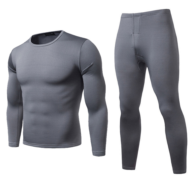 Winter Long Johns Thermal Underwear Sets Men Brand Quick Dry Anti-microbial Stretch Men's Thermo Underwear Male Warm