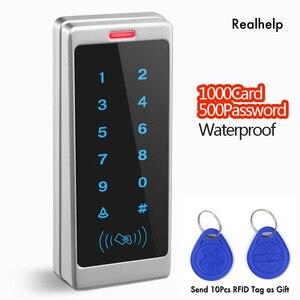 Image 2 - دعم 1000 بطاقة و 500 كلمة اللمس لوحة المفاتيح الدخول نظام مكتب الوصول للماء التحكم في الوصول يجاند RFID بطاقة قارئ
