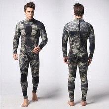 3 مللي متر النيوبرين كامو الرجال الكامل ملابس دافئة الشتاء السباحة الغوص تصفح Spearfishing S/M/L/XL/XXL/XXXL
