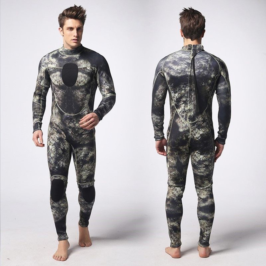 3mm Neoprene Camo Men Full Wetsuits Warm Winter Swimming Scuba Diving Surfing Spearfishing S/M/L/XL/XXL/XXXL-in Wetsuit from Sports & Entertainment
