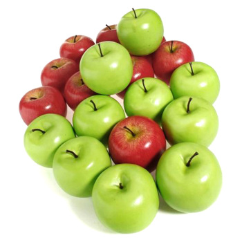 10pcs Artificial Apples Plastic Fruit Green Red Apple For Wedding Decoration Shop Display Fake Fruits Teaching Aids Fruits