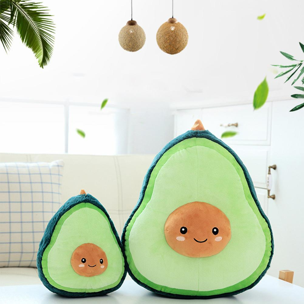 2019 Nieuwe Fruit Gevulde Pluche Avocado Vormige Kussens Avocado Pluche Pop Gevuld Knuffel Fruit Vorm Kussen