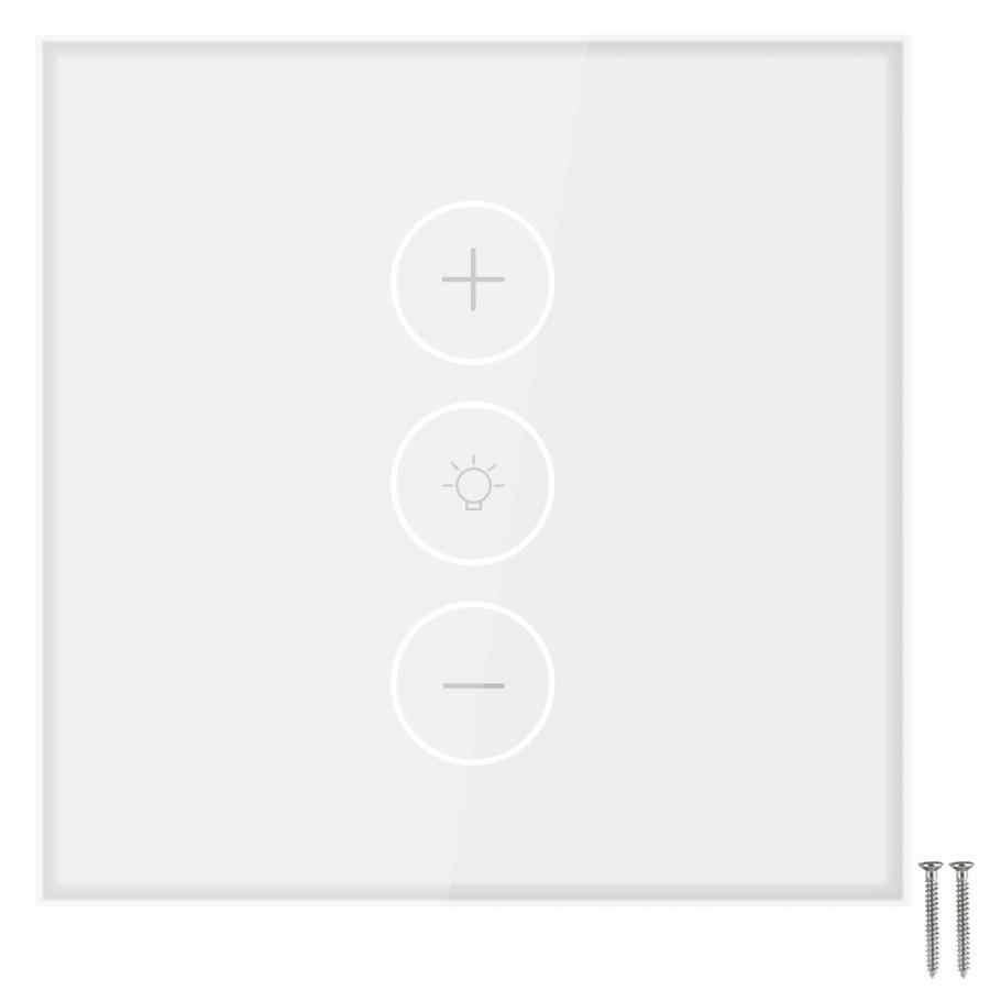 Wi-Fi Smart LED Light Wall Touch Panel Switch Remote Control White EU Plug AC100V-240V
