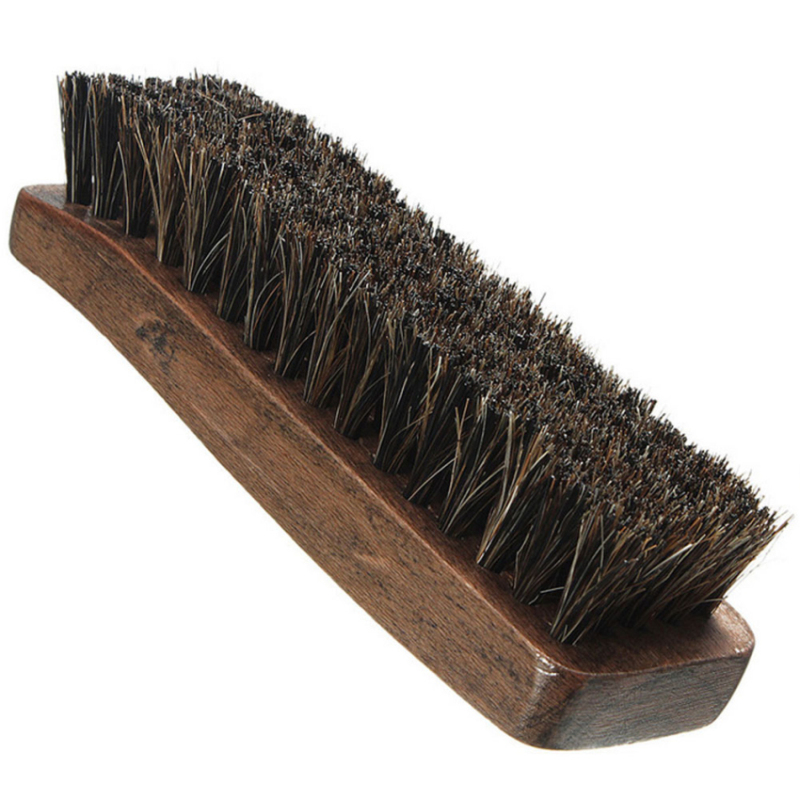 Wooden handle horsehair shoe brush polish natural leather - Natural horse hair interior upholstery brush ...