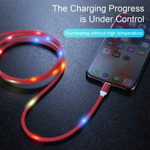 KISSCASE LED Voice Control US Type C Cable For Fast Charging USB Charger Samsung S9 S8 Plus Note 9 8