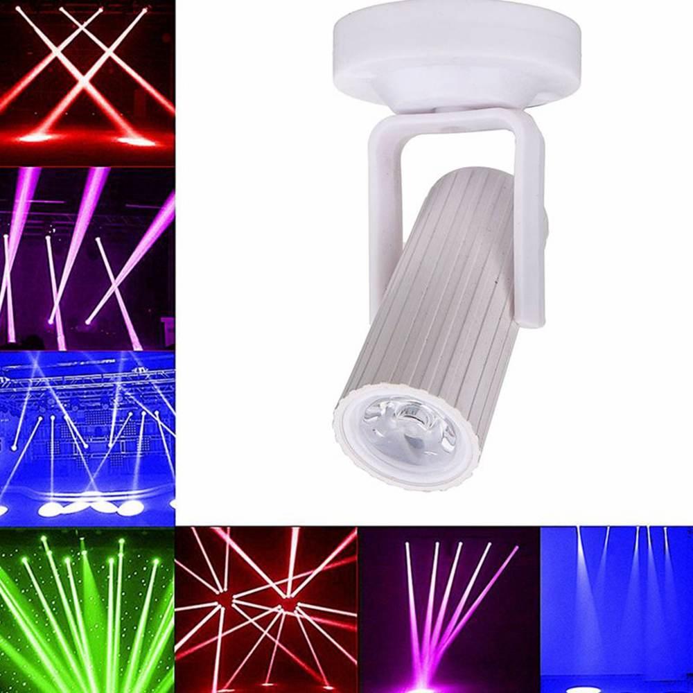 1pcs RGB/Blue/Red/White LED Beam Spotlight Stage Light Mini 1W For DJ Disco Bar KTV Party Stage Lighting Effect AC110-220V