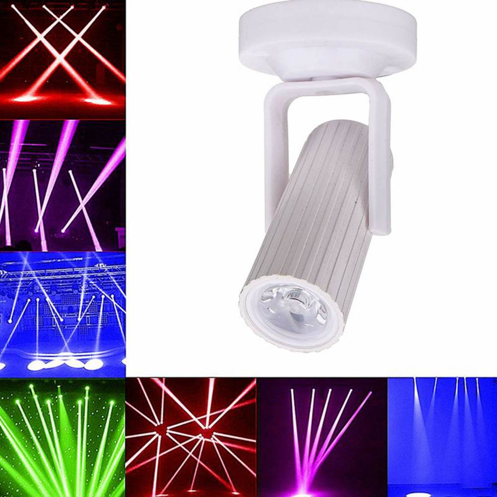 1pcs RGB/Blue/Red/White LED Beam Spotlight Light Mini 1W for DJ Disco Bar KTV Party Lighting Effect AC110-220V