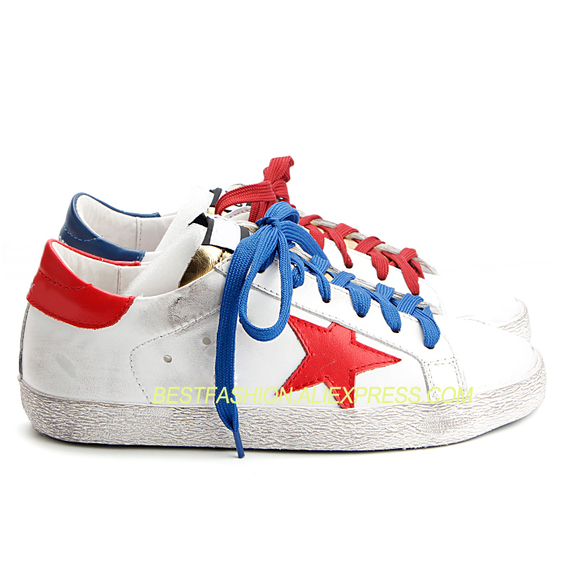 Women shoes  new mixed colors white genuine leather shoes female spring and summer white casual star dirty shoesWomen shoes  new mixed colors white genuine leather shoes female spring and summer white casual star dirty shoes