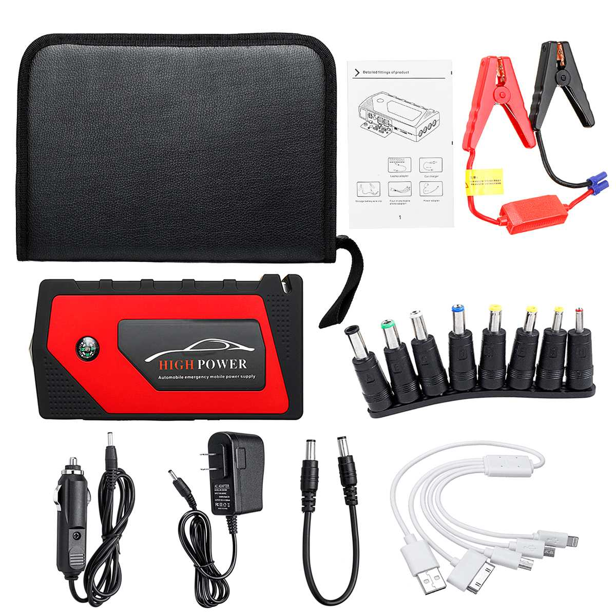 82800 mAh 4 USB voiture saut démarreur Pack chargeur Portable Booster batterie externe Battery82800mAh 4 USB voiture J - 2