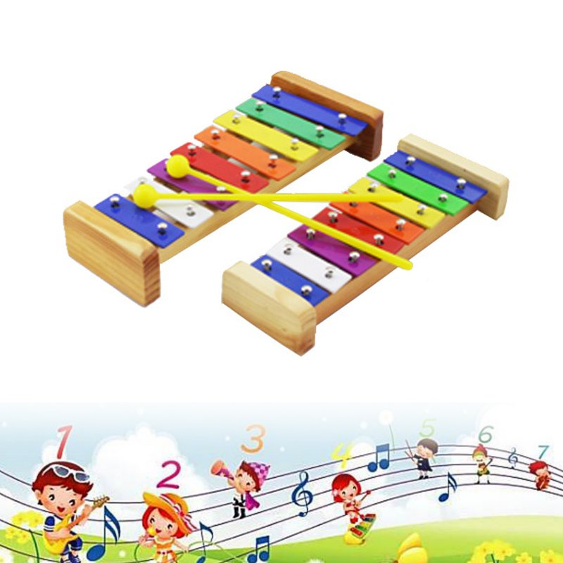 Madera Percusión Instrumento Juguete Xylophone Educativo Temprano Sl 8 Notas Chico Musical stQhrd