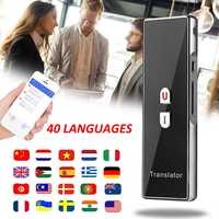 Smart Voice Translator Instant Translation bluetooth 40 Languages Traductor Outdoor Meeting Speech Travel Business Translator