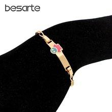 17 см голубые браслеты для детей ювелирные изделия детский браслет