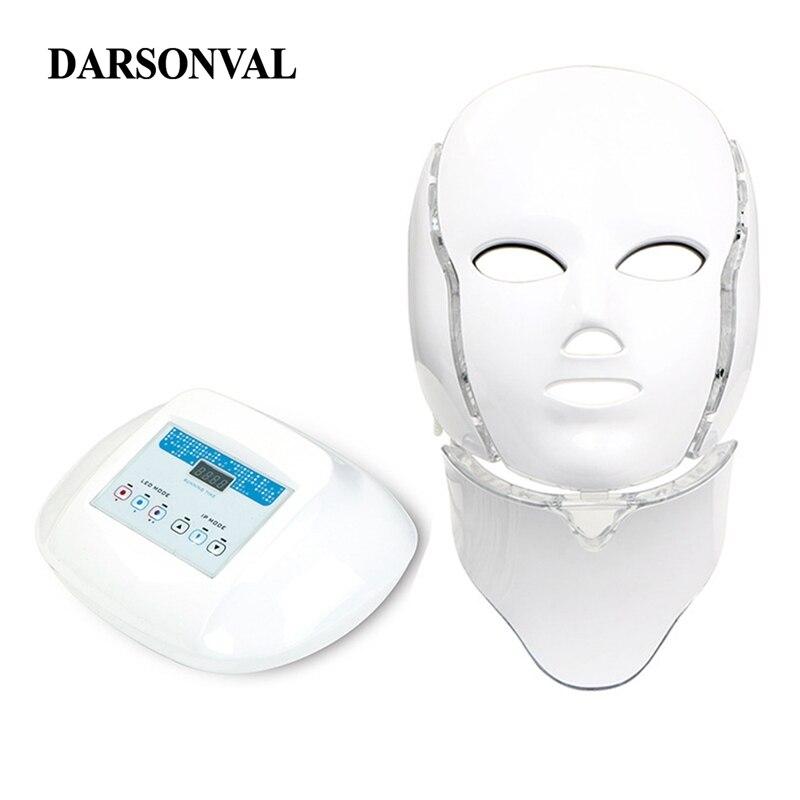 LED Masque Du Visage PDT Photothérapie Anti Vieillissement Machine Led Masques Beauté Rajeunissement de La Peau Serrer Pores Acné Remover Anti Rides