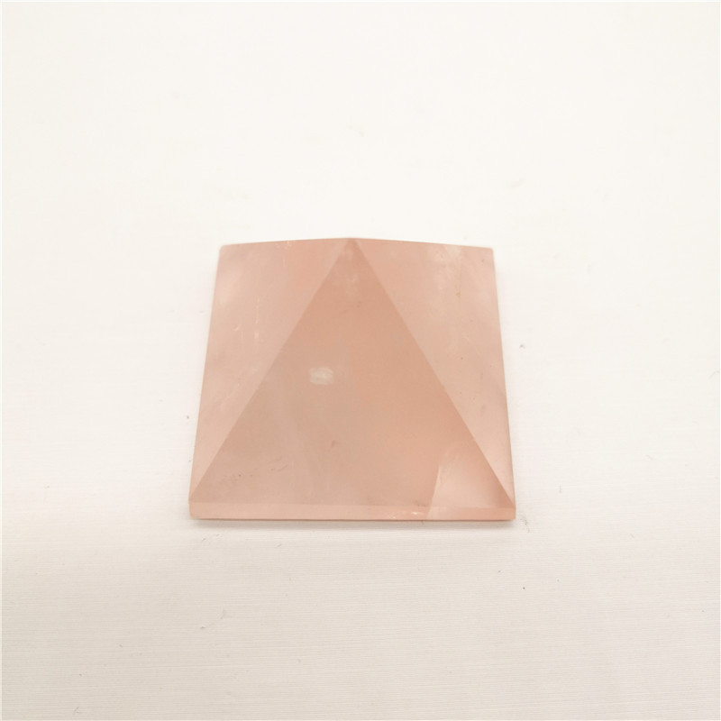 Aura Natural Powder Crystal Pyramid Decoration Crystal Jewelry Home Decoration Wang Marriage Edge Chakra Trick Peach Flower