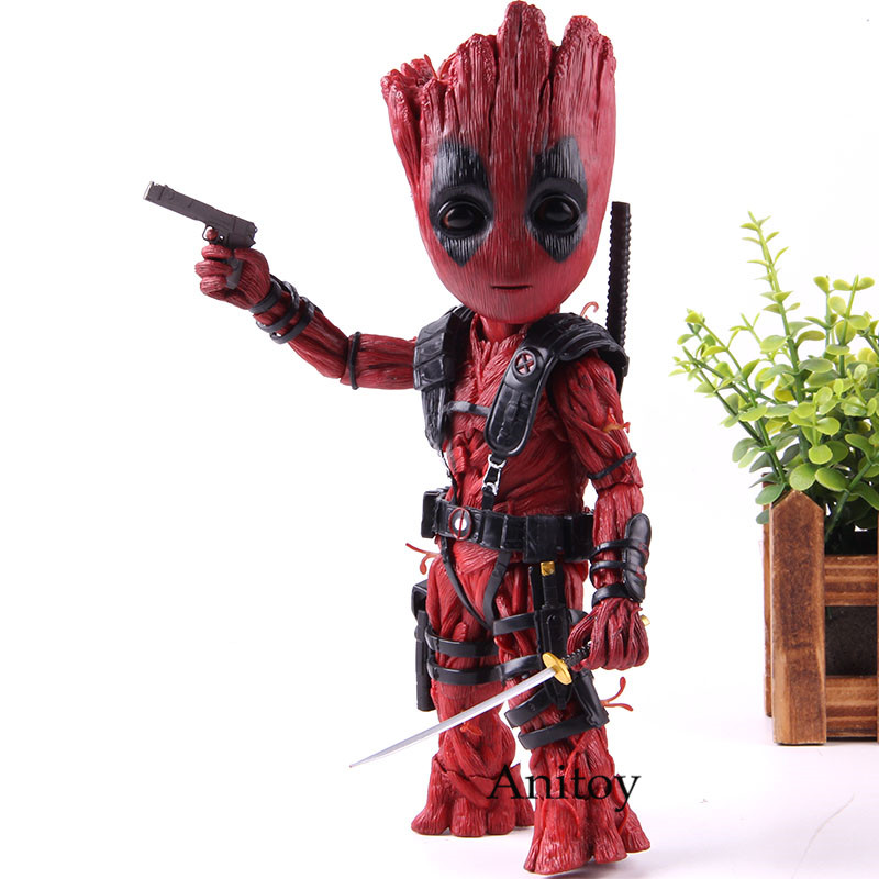 Marvel Comics Super Heros Tree Man Cosplay Dead Pool Marvel Avengers Infinity War Action Figure Collection
