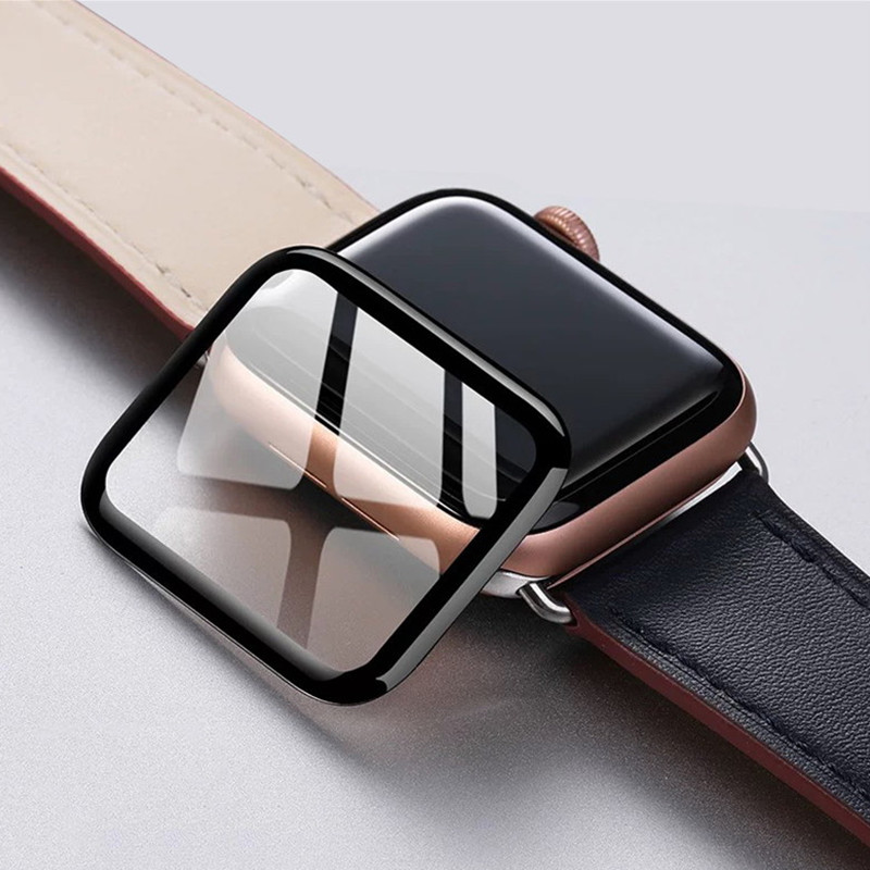 3D Curved Edge Tempered Glass Protective Film For Apple Watch 3 2 1 38MM 42MM Screen Protector For IWatch 4 40MM 44MM Full Glue