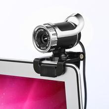 2019 Новый Full HD цифровая вебкамера с usb-разъемом Веб камера для компьютера 360 градусов зажим для настольных ПК ноутбук мега пикселей