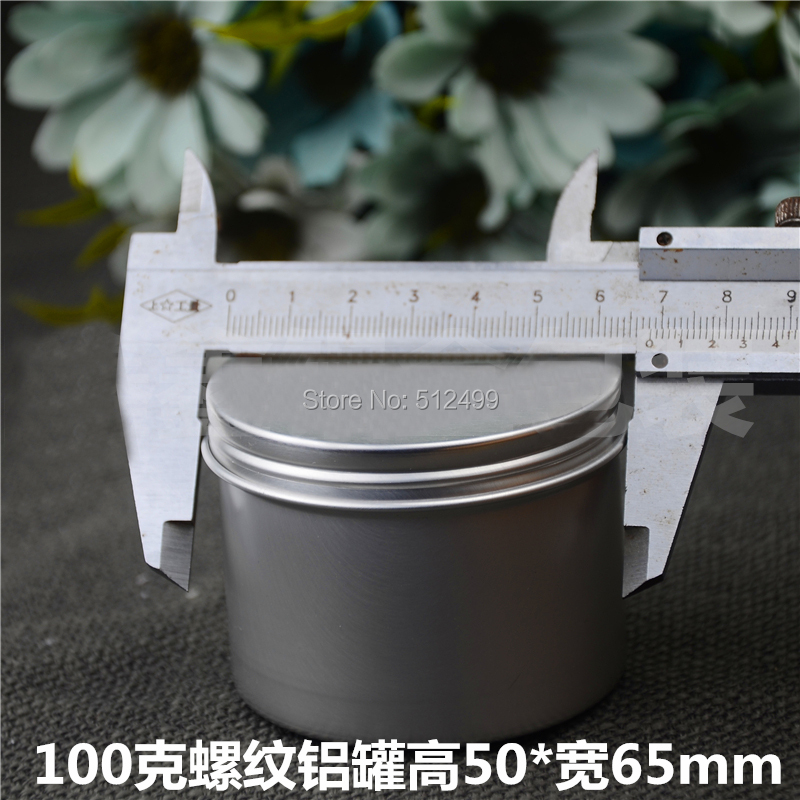 100g 50pcs Refillable empty round aluminum tin cans bottle food aluminum cans cosmetic container box tea aluminum jar