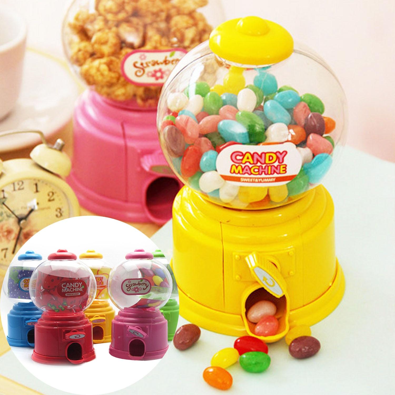 Behogar Jelly Beans Sugar Snack Dispenser Coin Bank Storage Box Simulation Vending Machine Christmas Holiday Birthday Gift Toy