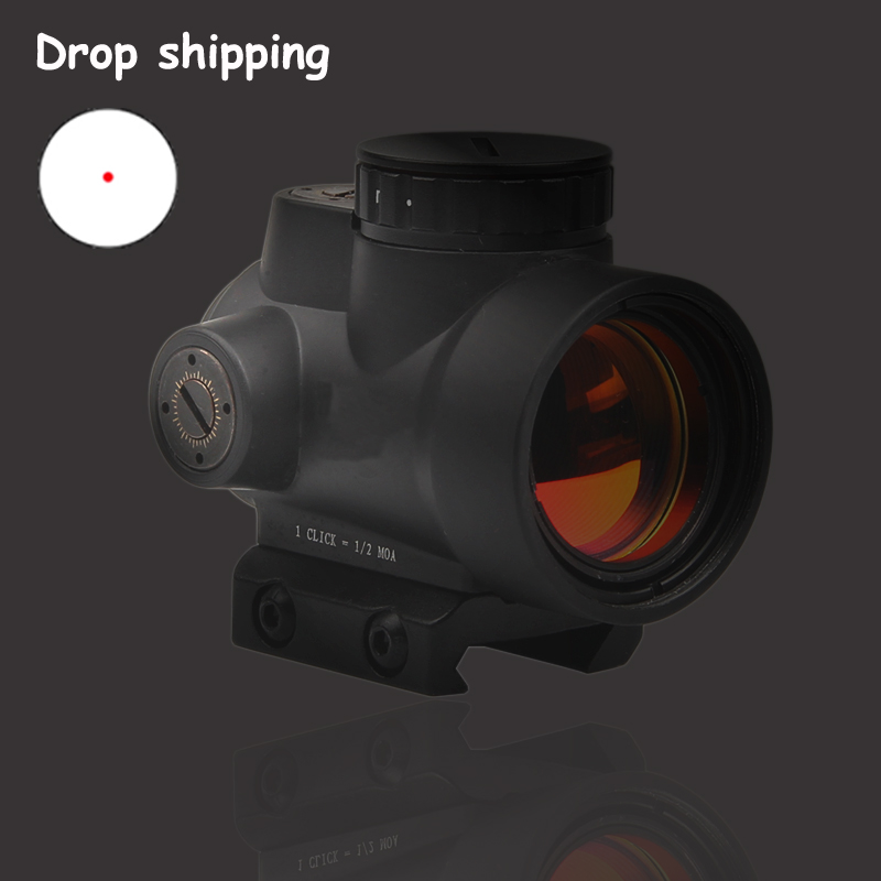 Fast Shipping USA Stock MRO Style 1x Red Dot Sight With High And Low Picatinny Rail Mount Base Airsoft Hunting Rifle Scope 5-36