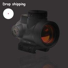 """משלוח מהיר מניות ארה""""ב MRO סגנון 1x Red Dot Sight עם גבוהה נמוך picatinny רכבת הר בסיס Airsoft ציד רובה היקף 5 36"""