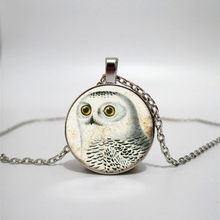 Glass necklace owl handmade personalized accessories custom glass Time Private
