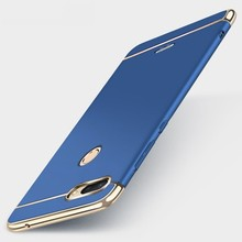 Case For Xiaomi Redmi 6 Cover Redmi 6 Pro case Luxury Royal Gold Metal Plating TPU Hard Removable 3 in 1 Case Redmi 6A redmi 6 3 32 gold