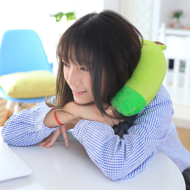 MIHE Soft Cartoon shape shaped neck pillow travel memory foam kids neck support rest pillow pillows for airplane car sleep 49 image