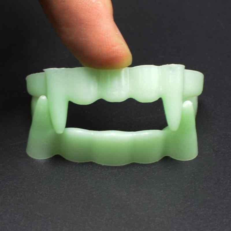 Забавные зубные протезы зубы светящиеся розыгрыши интересные шалости ужас Забавный шокер Новинка гаджеты Хэллоуин реквизит чистый модный